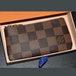 Louis Vuitton Key Pouch Key Cley Damier ebene